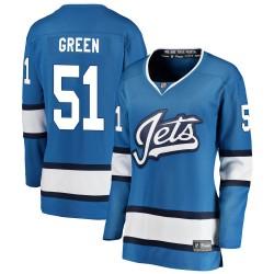 Luke Green Winnipeg Jets Women's Fanatics Branded Blue Breakaway Alternate Jersey