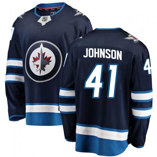 Luke Johnson Winnipeg Jets Men's Fanatics Branded Blue Breakaway Home Jersey