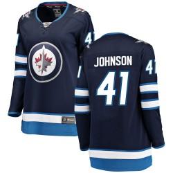Luke Johnson Winnipeg Jets Women's Fanatics Branded Blue Breakaway Home Jersey