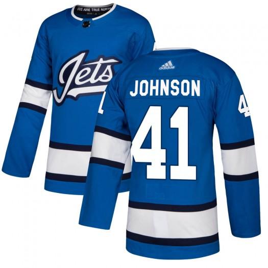 Luke Johnson Winnipeg Jets Youth Adidas Authentic Blue Alternate Jersey