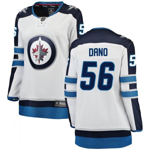 Marko Dano Winnipeg Jets Women's Fanatics Branded White Breakaway Away Jersey