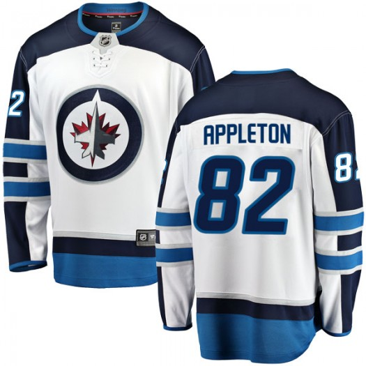 Mason Appleton Winnipeg Jets Men's Fanatics Branded White Breakaway Away Jersey