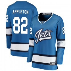 Mason Appleton Winnipeg Jets Women's Fanatics Branded Blue Breakaway Alternate Jersey