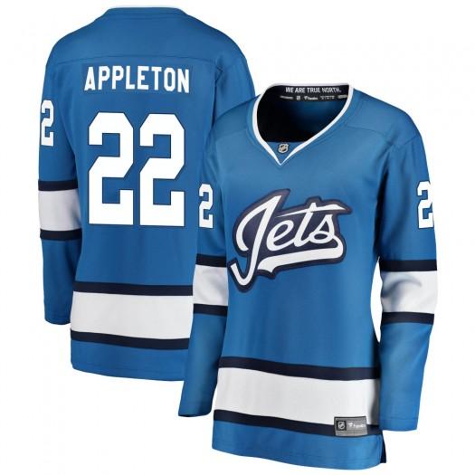 Mason Appleton Winnipeg Jets Women's Fanatics Branded Blue Breakaway Alternate Jersey