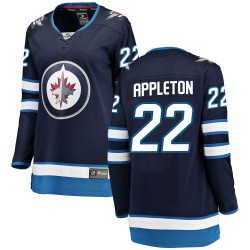 Mason Appleton Winnipeg Jets Women's Fanatics Branded Blue Breakaway Home Jersey