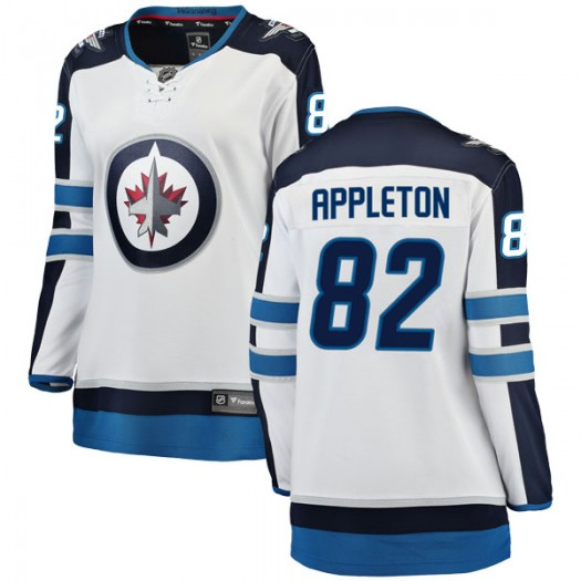 Mason Appleton Winnipeg Jets Women's Fanatics Branded White Breakaway Away Jersey