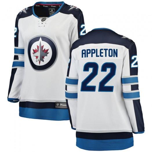 Mason Appleton Winnipeg Jets Women's Fanatics Branded White Breakaway Away Jersey
