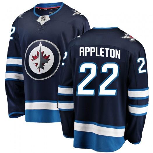 Mason Appleton Winnipeg Jets Youth Fanatics Branded Blue Breakaway Home Jersey