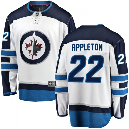Mason Appleton Winnipeg Jets Youth Fanatics Branded White Breakaway Away Jersey