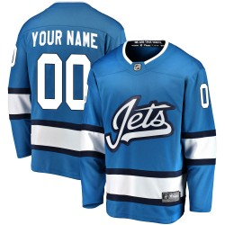 Men's Fanatics Branded Winnipeg Jets Customized Breakaway Blue Alternate Jersey