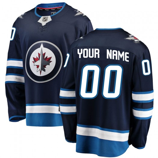 Men's Fanatics Branded Winnipeg Jets Customized Breakaway Blue Home Jersey