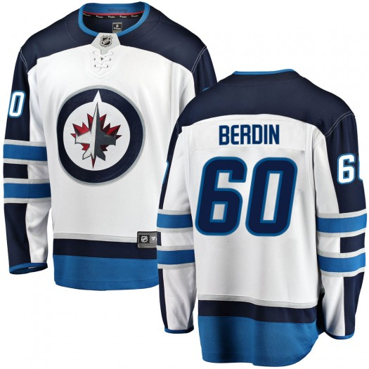 Mikhail Berdin Winnipeg Jets Men's Fanatics Branded White ized Breakaway Away Jersey