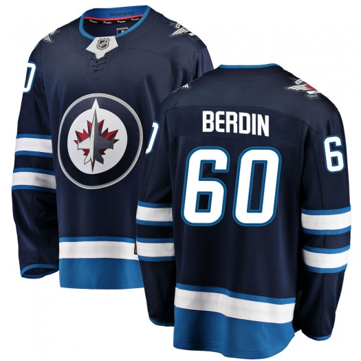 Mikhail Berdin Winnipeg Jets Youth Fanatics Branded Blue ized Breakaway Home Jersey