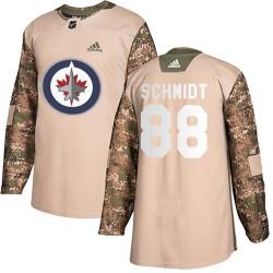 Nate Schmidt Winnipeg Jets Youth Adidas Authentic Camo Veterans Day Practice Jersey