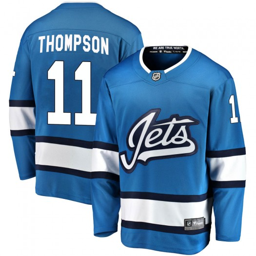Nate Thompson Winnipeg Jets Men's Fanatics Branded Blue Breakaway Alternate Jersey