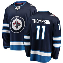 Nate Thompson Winnipeg Jets Men's Fanatics Branded Blue Breakaway Home Jersey