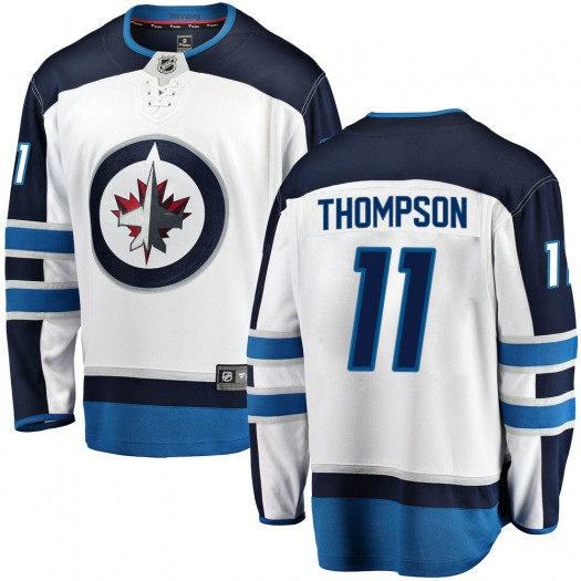 Nate Thompson Winnipeg Jets Men's Fanatics Branded White Breakaway Away Jersey