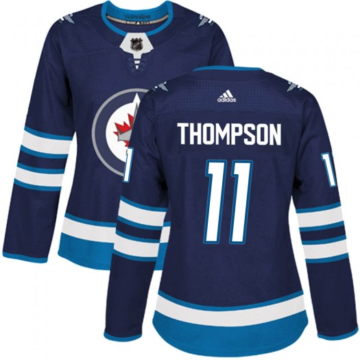 Nate Thompson Winnipeg Jets Women's Adidas Authentic Navy Home Jersey