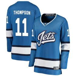 Nate Thompson Winnipeg Jets Women's Fanatics Branded Blue Breakaway Alternate Jersey