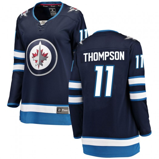 Nate Thompson Winnipeg Jets Women's Fanatics Branded Blue Breakaway Home Jersey