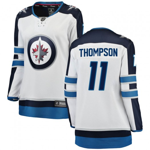 Nate Thompson Winnipeg Jets Women's Fanatics Branded White Breakaway Away Jersey