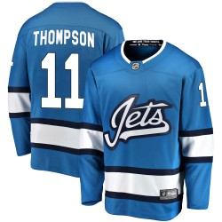 Nate Thompson Winnipeg Jets Youth Fanatics Branded Blue Breakaway Alternate Jersey