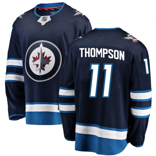 Nate Thompson Winnipeg Jets Youth Fanatics Branded Blue Breakaway Home Jersey
