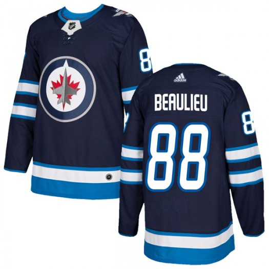 Nathan Beaulieu Winnipeg Jets Men's Adidas Authentic Navy Home Jersey