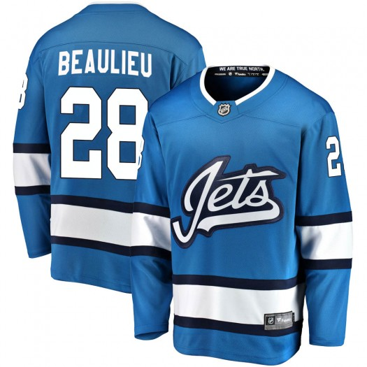 Nathan Beaulieu Winnipeg Jets Men's Fanatics Branded Blue Breakaway Alternate Jersey