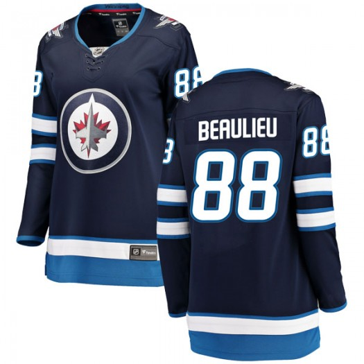 Nathan Beaulieu Winnipeg Jets Women's Fanatics Branded Blue Breakaway Home Jersey