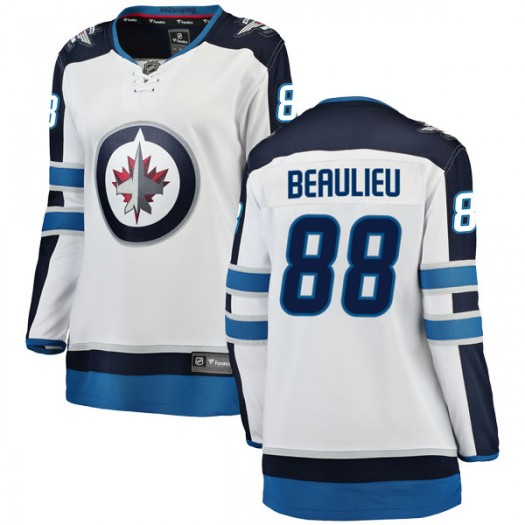 Nathan Beaulieu Winnipeg Jets Women's Fanatics Branded White Breakaway Away Jersey