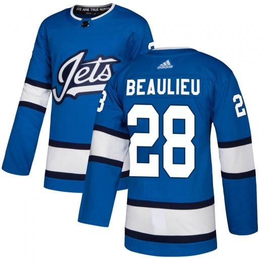 Nathan Beaulieu Winnipeg Jets Youth Adidas Authentic Blue Alternate Jersey
