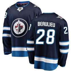 Nathan Beaulieu Winnipeg Jets Youth Fanatics Branded Blue Breakaway Home Jersey