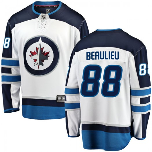 Nathan Beaulieu Winnipeg Jets Youth Fanatics Branded White Breakaway Away Jersey