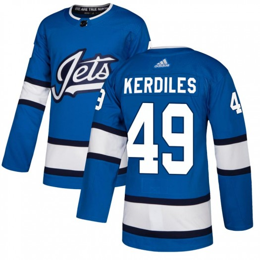 Nic Kerdiles Winnipeg Jets Men's Adidas Authentic Blue Alternate Jersey
