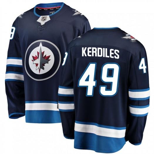 Nic Kerdiles Winnipeg Jets Men's Fanatics Branded Blue Breakaway Home Jersey