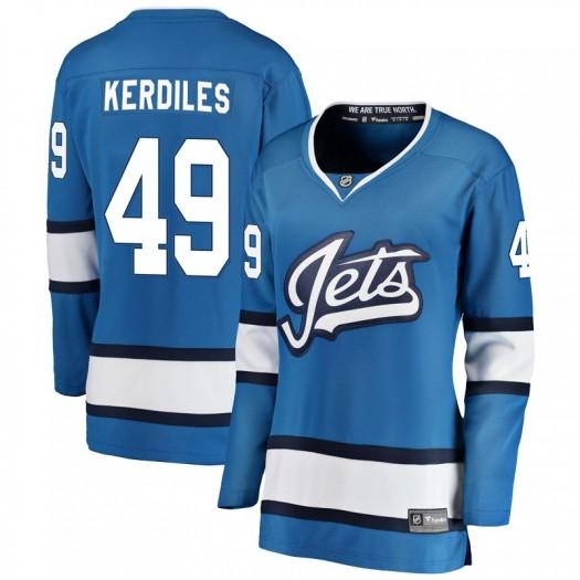 Nic Kerdiles Winnipeg Jets Women's Fanatics Branded Blue Breakaway Alternate Jersey