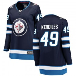 Nic Kerdiles Winnipeg Jets Women's Fanatics Branded Blue Breakaway Home Jersey