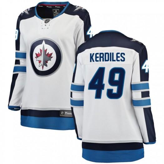 Nic Kerdiles Winnipeg Jets Women's Fanatics Branded White Breakaway Away Jersey