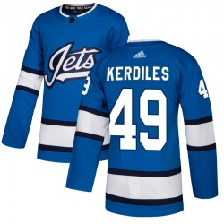Nic Kerdiles Winnipeg Jets Youth Adidas Authentic Blue Alternate Jersey