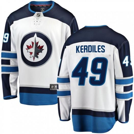 Nic Kerdiles Winnipeg Jets Youth Fanatics Branded White Breakaway Away Jersey
