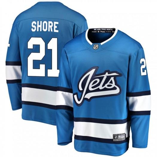 Nick Shore Winnipeg Jets Men's Fanatics Branded Blue Breakaway Alternate Jersey