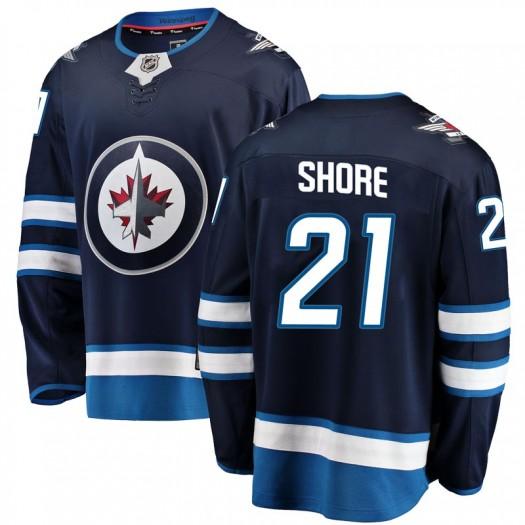 Nick Shore Winnipeg Jets Men's Fanatics Branded Blue Breakaway Home Jersey