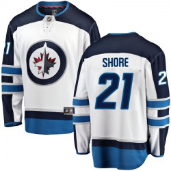 Nick Shore Winnipeg Jets Men's Fanatics Branded White Breakaway Away Jersey