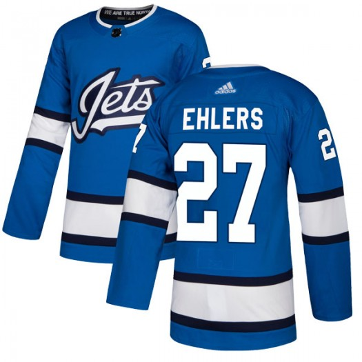 Nikolaj Ehlers Winnipeg Jets Men's Adidas Authentic Blue Alternate Jersey