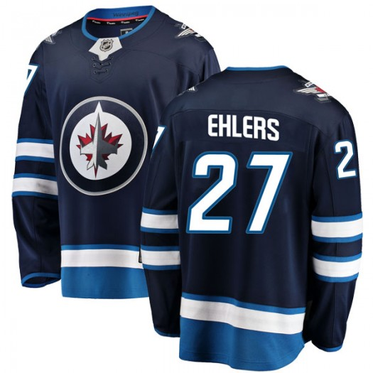 Nikolaj Ehlers Winnipeg Jets Men's Fanatics Branded Blue Breakaway Home Jersey