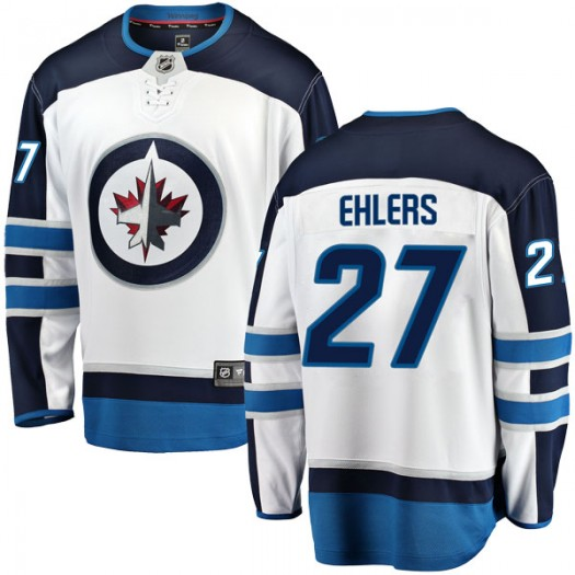 Nikolaj Ehlers Winnipeg Jets Men's Fanatics Branded White Breakaway Away Jersey