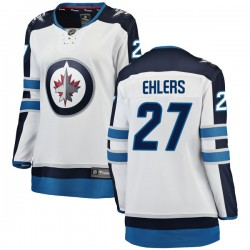 Nikolaj Ehlers Winnipeg Jets Women's Fanatics Branded White Breakaway Away Jersey