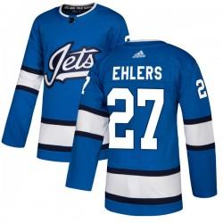 Nikolaj Ehlers Winnipeg Jets Youth Adidas Authentic Blue Alternate Jersey
