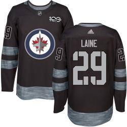 Patrik Laine Winnipeg Jets Men's Adidas Authentic Black 1917-2017 100th Anniversary Jersey